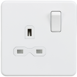 Matt White Screwless Switches & Sockets from Knightsbridge