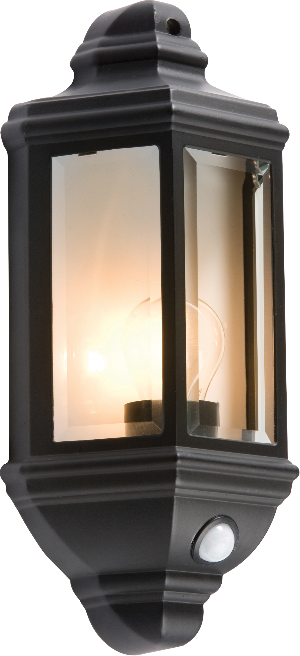 Ip33 60w die cast aluminium clear glass wall lantern with for Transparent glass wall