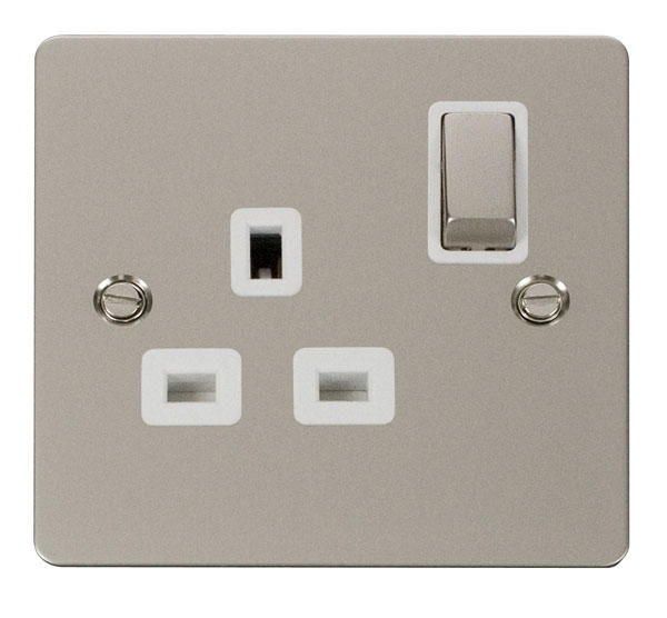 Pearl Nickel Flat Plate Switches and Sockets - Click Define