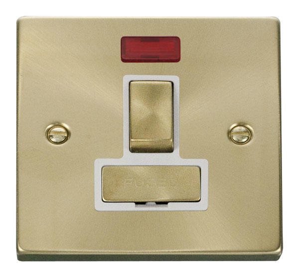 Victorian Satin Brass Switches and Sockets - Click Deco