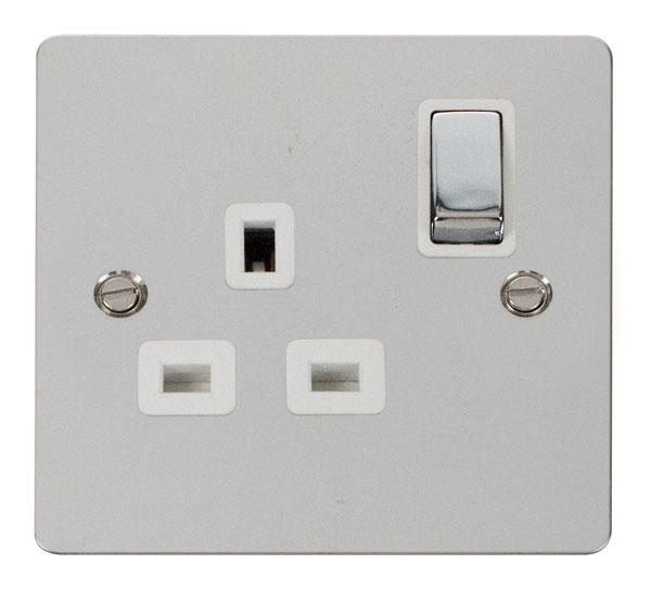 Polished Chrome Flat Plate Switches and Sockets - Click Define
