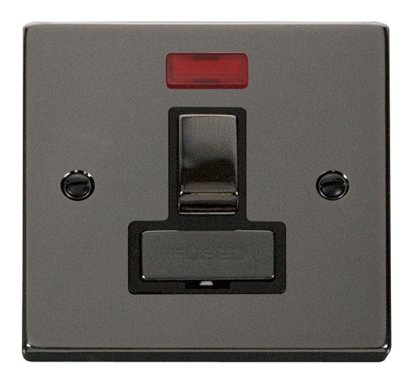 Victorian Black Nickel Switches and Sockets - Click Deco
