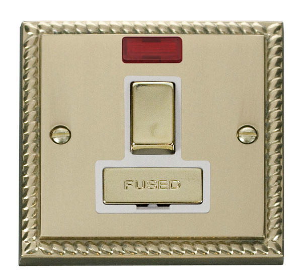 Georgian Cast Brass Switches and Sockets - Click Deco