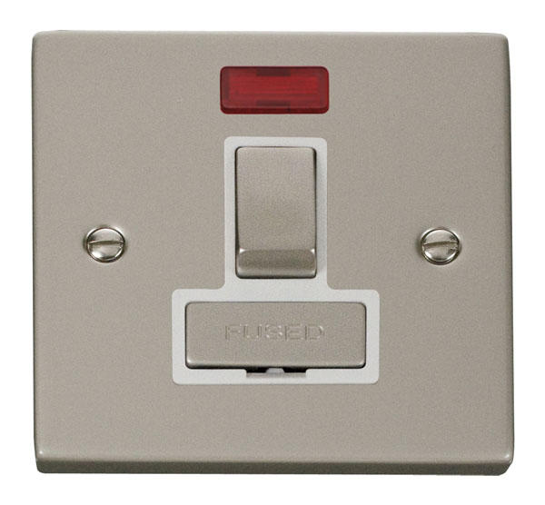 Victorian Pearl Nickel Switches and Sockets - Click Deco