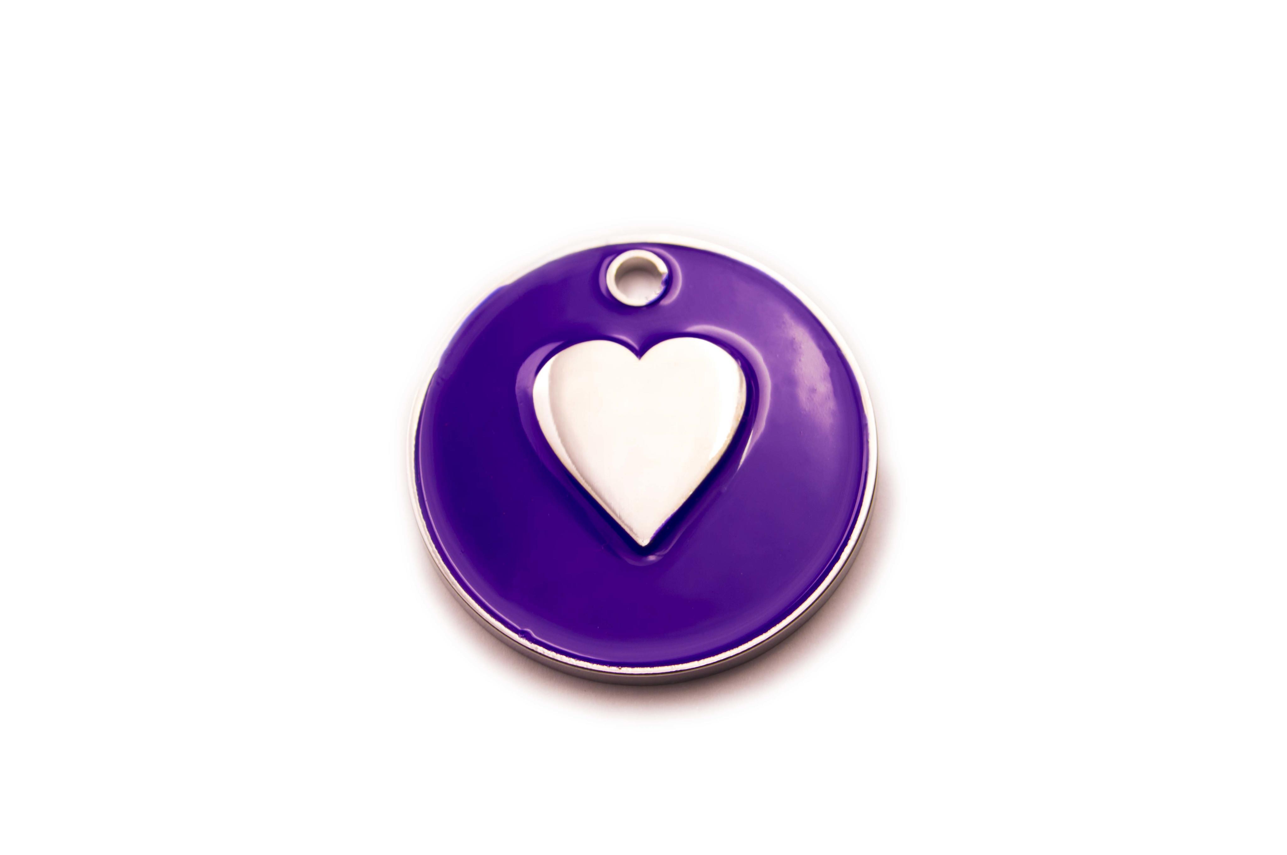 Heart pet tag large heart pet tag purple buycottarizona