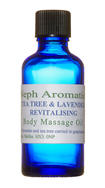 tea tree and lavender massage oil
