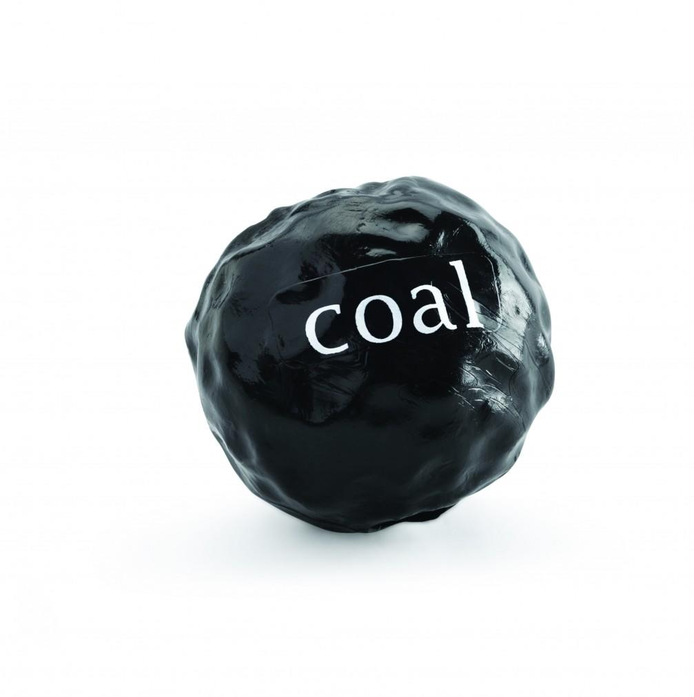Planet Dog Orbee-Tuff Coal Tough Chew Ball For Dogs