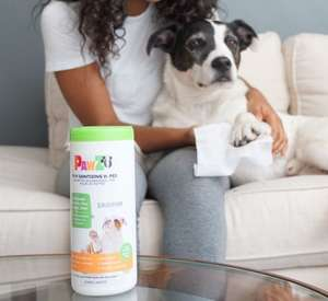 Pawz Sanipaw Sanitizing Paw Wipes For Dogs