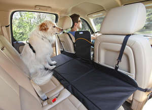 Kurgo backseat bridge rear car seat extention for dogs Black