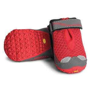 Ruffwear Grip Trex Dog Boots Two Boots Red Currant