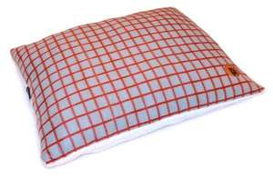 Petface Window Pane Pillow Mattress For Dogs in Red Check Design