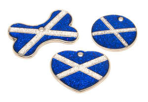Flag Engraved ID Tag Scotland - glitter
