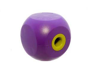 classic mini buster cube treat dog toy - purple