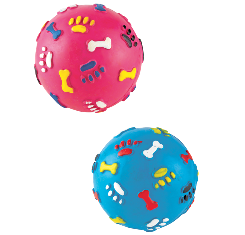 Gor Pets Gor Rubber Giggle Ball Blue or Pink