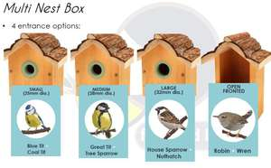 Petface Multi Nest Box for Various Wild Birds