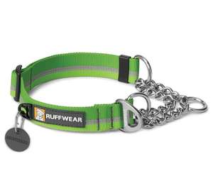 Ruffwear Chain Reaction Half Check Dog Collar Meadow Green