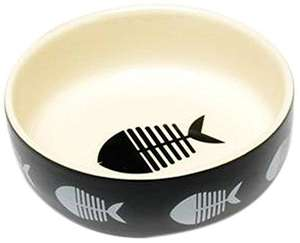 Petface Big Fish Ceramic Cat Feeding Bowl