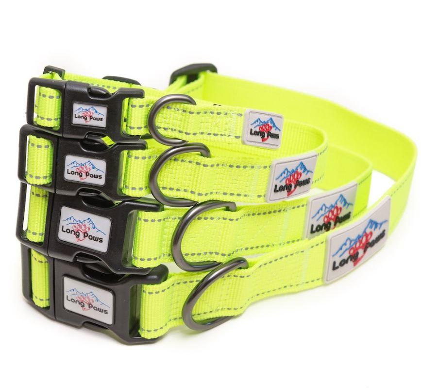 Long Paws Urban Trek Reflective Neon Collar stack