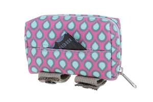 DOOG Walkie Pouch Luna - Pink with Blue Teardrop