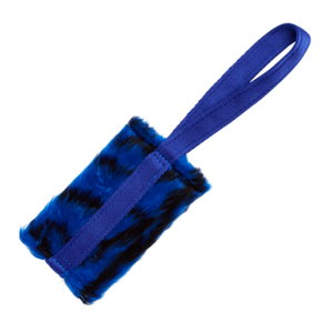 Tug-E-Nuff Food Bag Standard - Blue Tiger Print Faux Fur