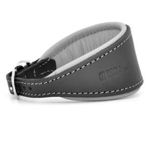 D&H Contemporary Colours Leather Hound Collar - Grey