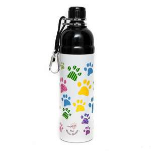 long paws pet water bottle - puppy paws  design 750ml