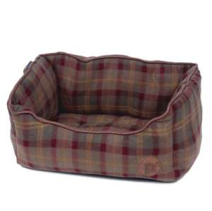 Petface Country Check square dog bed