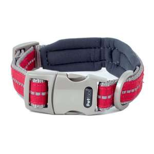 Petface Signature Padded Dog Collars Red