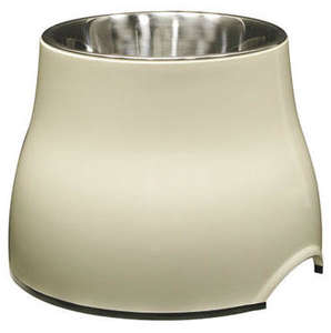 Dogit Elevated Dog Bowl - Ivory White