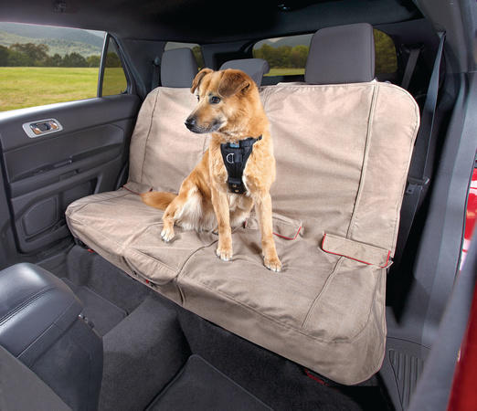 Kurgo car bench seat cover for dogs Hampton Sand