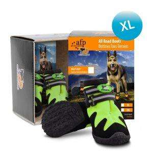 All for Paws All Road Boots For Dogs - Green set of 4 boots