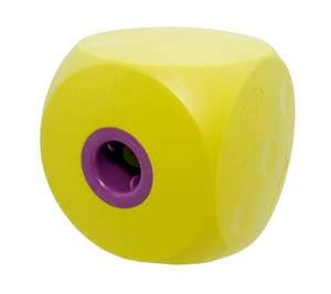 classic mini buster cube treat dog toy - lime