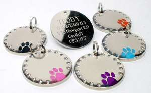 Crystal & Paw Engraved Pet ID Tags