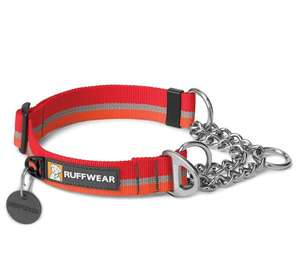 Ruffwear Chain Reaction Half Check Dog Collar Kokanee Red
