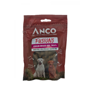 Anco Fusions Grain Free Natural Dog Treats - Beef & Venison