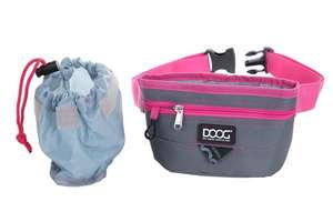 DOOG Good Dog Treat Pouch in Grey/Pink