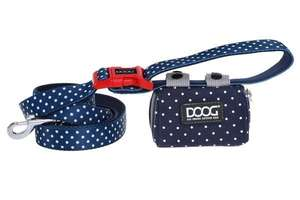 DOOG Walkie Pouch Navy/White Polkadot with Stella Lead