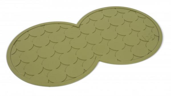 Petface Rubber Placemats for Pets Olive Green