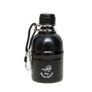 long paws pet water bottle -  Matte Black design 250ml