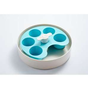 Spin Interactive Slow Feed Bowl Blue Compartments