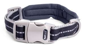 Petface Signature Padded Dog Collars Black