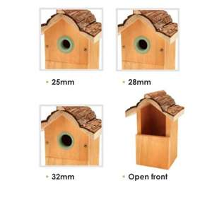 Petface Multi Nest Box for Wild Birds With 4 Entrance Options