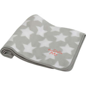 Little Petface fleece blancket grey with white stars