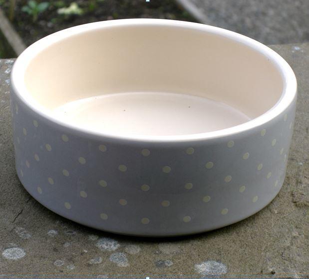 Petface Grey Spots Ceramic Dog Bowl - photo#6