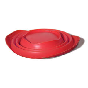 Kurgo collaps-a-bowl red collapsed