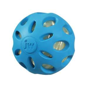 JW Crackle Heads Crunchy Ball Dog Toy Blue