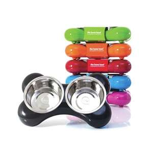 Hing Bone Dog Bowl Duo stylish designer dog bowl