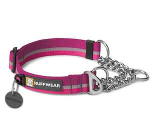 Ruffwear Chain Reaction Half Check Dog Collar Purple Dusk