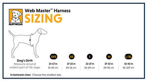 Ruffwear Web Master Harness For Dogs Size Guide