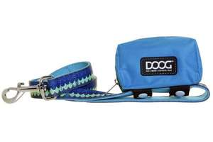 DOOG Walkie Pouch - Aqua/Brown with Pluto Lead